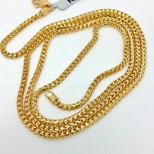 18k solid yellow gold franco chain