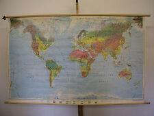 Schulwandkarte Wandkarte Karte map Welt Weltkarte World wall card 195x121 Orbit