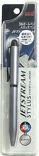 uni Mitsubishi JETSTREAM Stylus & 3 Color 0.5mm Ballpoint Pen - Silver Body