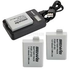 LP-E5 Replacement Li-ion Battery / 2PCS + Charger for Canon EOS Kiss F X2 450D