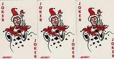 JOKERS - SEXY LADIES - 3  (see back) single vintage  playing cards !