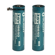 2pcs Olight 18650 3.6V 3600mAh Protected Rechargeable Li-ion Battery Cells