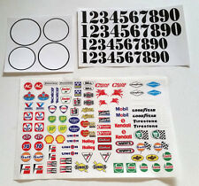 VTA Racing Number Plate decal set Rally Oval RC car truck sticker 1/10 1/8 Dec-C