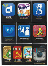 2013 Topps WACKY PACKAGES ANS Series 10 Awful Apps Insert Set  (10 Cards)