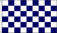 3' x 2' NAVY BLUE and WHITE CHECK FLAG Checkered Checked Chequered Sports Team