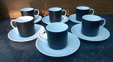 A set of 6 WEDGWOOD SUSIE COOPER Contrast Black & White Cups and Saucers
