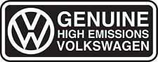 "Volkswagen VW Genuine High Emissions EPA Diesel Dieselgate TDI 4"" Decal Sticker"