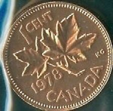1978-PL Proof-Like Penny 1 One Cent 78 Canada/Canadian BU Coin UNC Un-Circulated