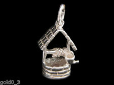 Wishing Well Charm Sterling silver 925 charmmakers 3D
