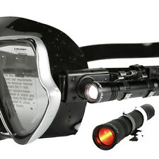 AQUATEC Underwater Led Headlight For Scuba Diving Clip on mask strap LED-1700&R
