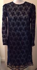 BNWT Ladies Dolce & Gabbana Black Lace Overlay Dress Size 8 Uk 38 IT