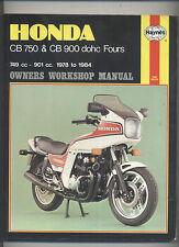 Haynes Honda DOHC CB750K CB750F CB900F 1978-1984 Manual CB 750 900 F K C SC F2