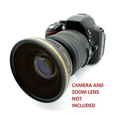Nikon D3200 D5300 D5200 D5100 52MM 0.43x Soft Fisheye Wide Angle Macro Lens HD