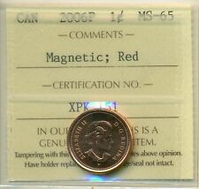 2006P Canada Small Cent Red ICCS MS-65 Magnetic