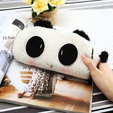 Neu Panda Plüsch-Bleistift-Kasten-Feder-Tasche Kosmetik Make-up Bag Mäppchen