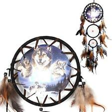 Dream Catcher with Feathers Wall Hanging Decoration Ornament-Wolf Dreamcatcher