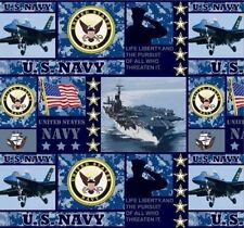 United States of America US Navy USA Military Fleece Fabric Print A617.06