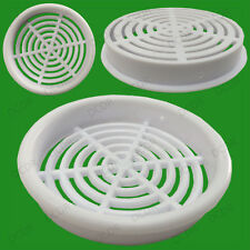 5x White Vivarium Reptile Push Fit Round Air Vents, 65mm, 60mm Hole, Ventilation