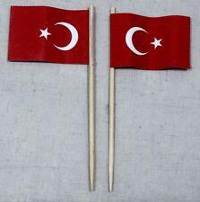 Party-Picker Türkei 50 Stk. Dekopicker Profiqualität Papierfähnchen Flagge Food