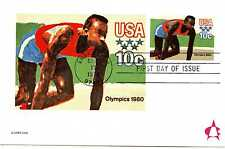 UX80 10c 1980 Olympic Games, Sprinter, Andrews, FDC