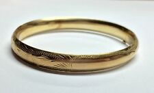 #159 14k Estate Gold 8mm Victorian Antique Bangle Bracelet No Monogram Not Scrap