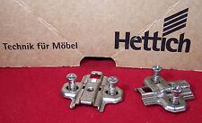2 Stück Hettich Kreuzplatten für Topfbänder Mod. Euro 9000 m. Dir. Bef. Schraube
