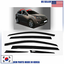 A176 SMOKED DOOR WINDOW VENT VISOR SUN DEFLECTOR (6 PCS) TOYOTA RAV4 2013-2016