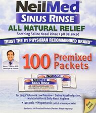5 Pack - NeilMed Sinus Rinse Premixed Refill Packets 100 Each