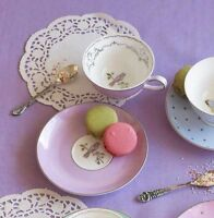 Bombay Duck Miss Darcy Bird, Teacup & Saucer in Lavender, Tea Cup, Set, Party