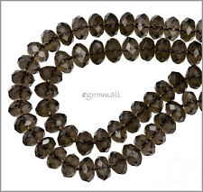"15.8"" Smoky Quartz Faceted Rondelle Beads 10mm #78255"
