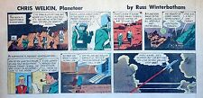 Chris Welkin Planeteer by Art Sansom - scarce Sunday comic page - Feb. 17, 1957