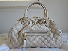 NWT Authentic Marc Jacobs Classic Large Quilted Stam Bag Ivory