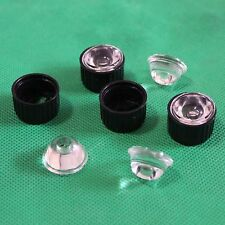 5pcs 120degree led Lens for 1w 3w LED black/White 20 holder