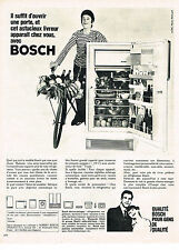 PUBLICITE ADVERTISING 044  1966  BOSCH   réfrigérateur