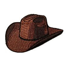 ID 1346 Cowboy Hat Old Western Rodeo Ranch Embroidered Iron On Applique Patch