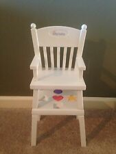 BITTY BABY Doll American Girl White HIGH CHAIR & ACTIVITY TABLE