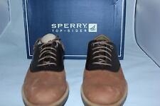 Sperry Men's Bayside Saddle Brown Leather Lace-up Oxford, 8 M