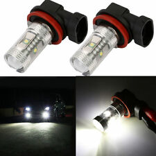 2pcs 30W H11 Car LED Light Bulb Front Fog Lamp DRL Headlight + Projector Bright
