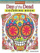 Day Of The Dead Adult Coloring Book - Thaneeya McCardle NEW - Sugar Skulls