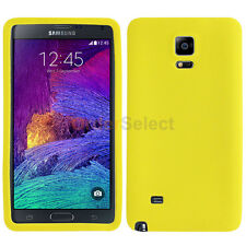 Silicone Soft Slim Rubber Gel Case Cover Skin for Samsung Galaxy Note 4 Yellow