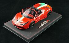 1/18 BBR FERRARI 458 SPECIALE A SPIDER METALLIC F1 RED DELUXE LE 10 PCS N MR