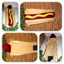 DAZZLING HOT DOG KIDS COSTUME! (SIZE 7-10)