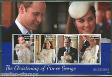 LIBERIA 2014 BIRTH OF PRINCE GEORGE SHEET  WITH KATE & WILLIAM MINT NH