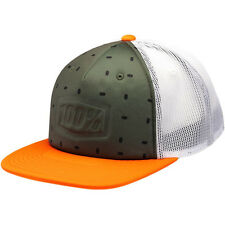 100% estampillé Casquette Bonnet Olive Orange KTM Camionneur MX Enduro Motocross