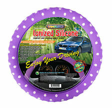 Purple Polka Dot Silicone Steering wheel cover Ionized Limited Edition!