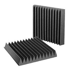 """Aurica Wedge Shaped Sound Proofing Acoustic Foam 10""""x10""""x2"""" - Set of 2"""