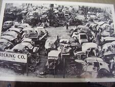 1930S 1940 'S JUNK YARD  FORD CHEVY OTHERS  12 X 18 LARGE PICTURE   PHOTO