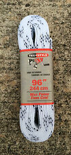 "Tex Style Pro Hockey Skate Laces 96"" - 244cm White Wide Waxed"