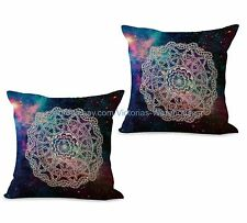 US SELLER- set of 2 mandala bohemian gypsy cushion cover cheap pillowcase