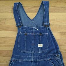 VINTAGE ORIGINAL WORKWEAR CHORE OVERALL PAY DAY JC PENNEY'S DONUT BUTTON 1950's